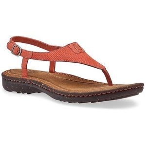 UGG Sefina Coral Leather Thong Sandal Size 10